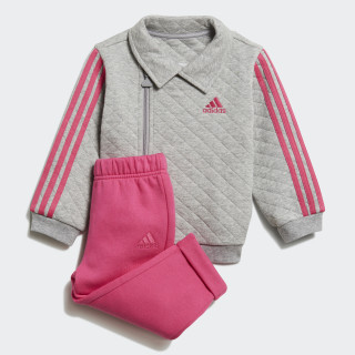 Joggingpak Medium Grey Heather / Real Magenta / White DJ1555
