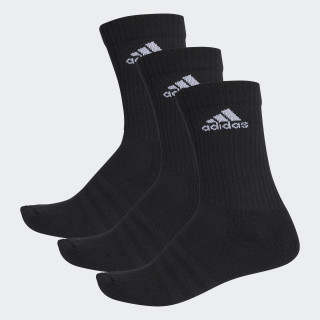 3-Streifen Performance Crew Socken Black/White AA2298