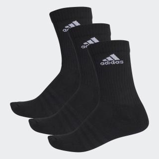 3-Stripes Performance Crew Socks Black/White AA2298