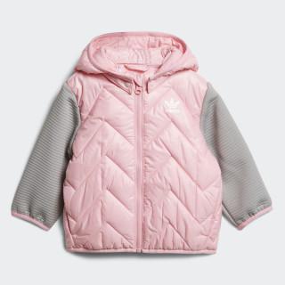 Chaqueta con capucha Trefoil Midseason Light Pink / Mgh Solid Grey D96076