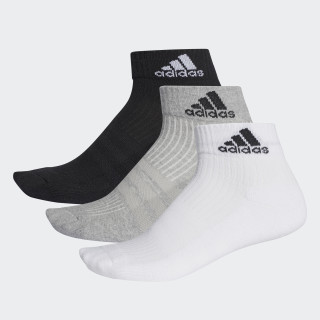 Medias tobilleras Tres Rayas Performance 3 Pares BLACK/MEDIUM GREY HEATHER/WHITE AA2287