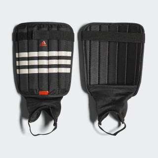 Evertomic Shin Guards Black/White/Solar Red AP7029