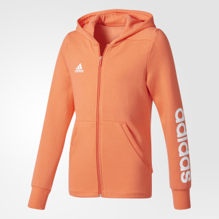 Sudadera Essentials 3 Franjas Mid EASY CORAL S17/WHITE/WHITE CF1704