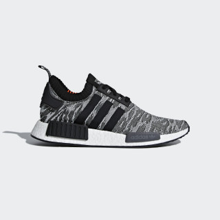 NMD_R1 Primeknit Shoes Grey/Core Black/Solar Red CQ2444