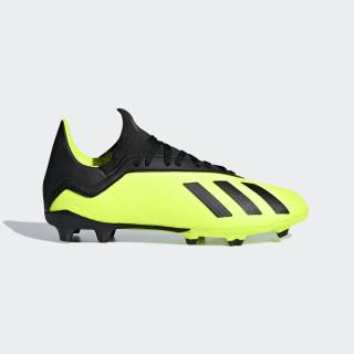 Calzado de Fútbol X 18.3 Terreno Firme Niño SOLAR YELLOW/CORE BLACK/SOLAR YELLOW DB2418