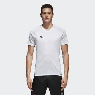 Tiro17 Training Voetbalshirt White/Black BQ2801