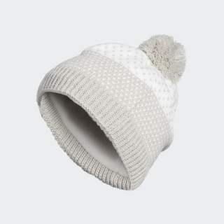 Fashion Lined Pompom Beanie Light Grey Heather CW9191