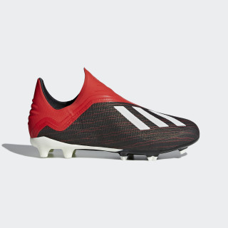 X 18+ Firm Ground Cleats Core Black / Cloud White / Active Red BB9354