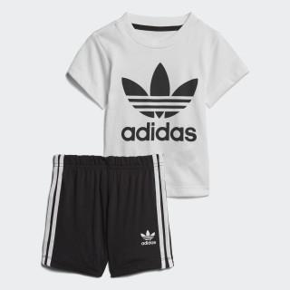 Zestaw szorty i koszulka White/Black CE1993