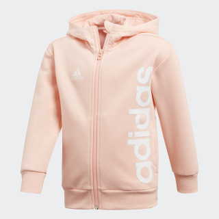 Felpa con cappuccio Little Kids Full Zip Haze Coral / White DJ1533