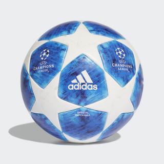 Ballon de match officiel Finale 18 White / Football Blue / Bright Cyan / Collegiate Royal CW4133