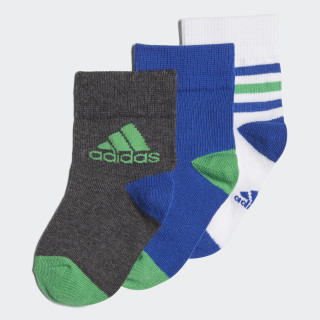 Socquettes (3 paires) Energy Green / Collegiate Royal / Dark Grey Heather DJ2271