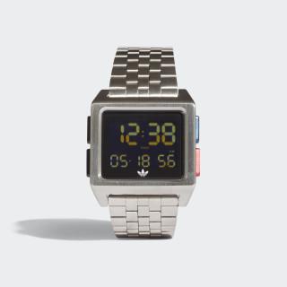 ARCHIVE_M1 Watch Silver Metallic / Black / Lush Blue / Lush Red CJ6307