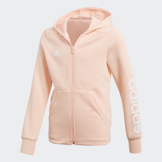 Essentials 3-Stripes Mid Hoodie Haze Coral / White DN8424