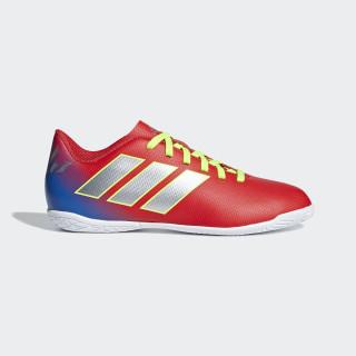 Calzado de Fútbol Nemeziz Messi Tango 18.4 Bajo Techo active red/SILBER-FOIL/football blue CM8639