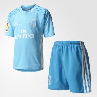 Real Madrid Mini-Heimausrüstung Torwart Bright Cyan/Crystal White AI5181