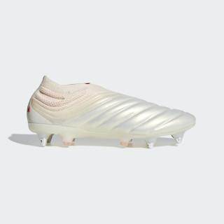 Bota de fútbol Copa 19+ césped natural húmedo Off White / Solar Red / Off White F36073