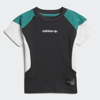 EQT T-Shirt Black / White / Sub Green D98782