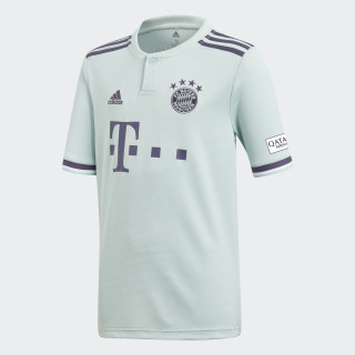 Camiseta Bayern Visitante Niño 2018 ASH GREEN S18/TRACE PURPLE S18/WHITE CF5396