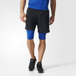 Shorts Dos-en-Uno Climacool Speed BLACK/COLLEGIATE ROYAL BK6171