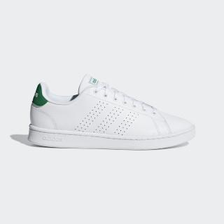 Zapatilla Advantage Ftwr White / Ftwr White / Green F36424