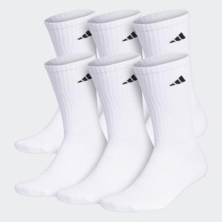 Crew Socks 6 Pairs White / Black 101639