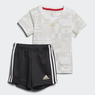 Conjunto Football Summer WHITE/GREY ONE F17/GOLD MET. BLACK/GOLD MET./VIVID RED S13 CF7414