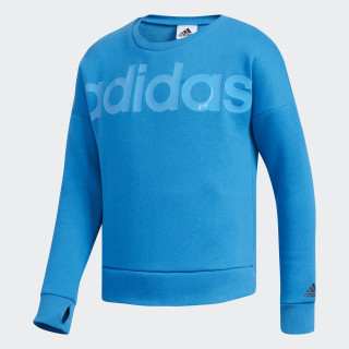 LS CROPPED SWEATSHIRT Bright Blue CK6827
