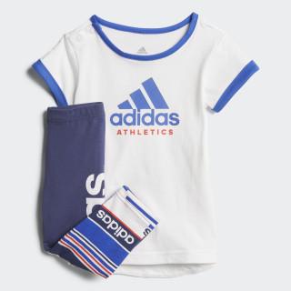 Conjunto Mini Me Sport ID WHITE/HI-RES BLUE S18/REAL CORAL S18 NOBLE INDIGO S18/WHITE/HI-RES BLUE S18/REAL CORAL S18 CF7436