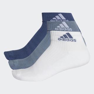3-Stripes Performance Ankle Socks 3 Pairs Noble Indigo/White/Raw Steel CF7338