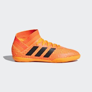 Calzado de Fútbol Nemeziz Tango 18.3 Superficies Interiores Niño ZEST/CORE BLACK/SOLAR RED DB2373