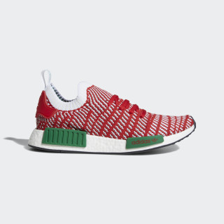 NMD_R1 STLT Primeknit Shoes Collegiate Red / Cloud White / Bold Green D96820