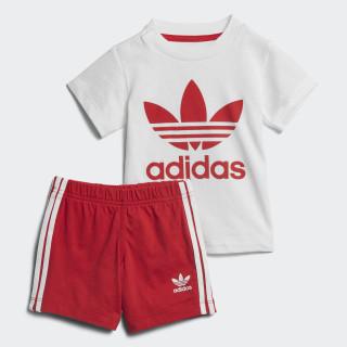 Conjunto Shorts y Camiseta WHITE/SCARLET SCARLET/WHITE CE1994
