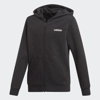 Chaqueta con capucha Essentials Linear Black / White DV1792