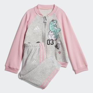 Комплект: джемпер и брюки Baseball light grey heather / light pink / white DV1243