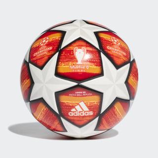 Футбольный мяч Лига чемпионов УЕФА Finale Madrid Junior 350 white / active red / scarlet / solar red DN8681