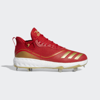 Icon V Cleats Scarlet / Cloud White / Gold Metallic G28235
