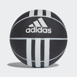 Basketbalový míč 3-Stripes Rubber X Black/White 279008