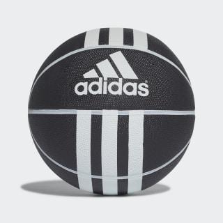Basketbalový míč 3-Stripes Rubber X Black / White 279008
