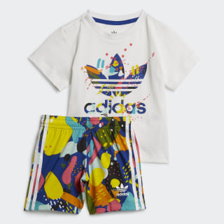 Conjunto Shorts and Tee White / Multicolor ED7709