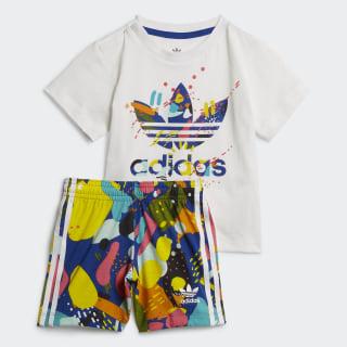 Conjunto Shorts y Camiseta White / Multicolor ED7709