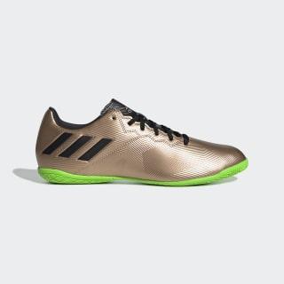 Zapatos de fútbol Messi 16.4 Bajo Techo COPPER MET./CORE BLACK/SOLAR GREEN BA9862