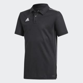 Core 18 Climalite Polo Shirt Black / White CE9038
