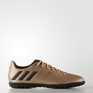 Botas Messi 16.3 Pasto Sintético COPPER MET./CORE BLACK/SOLAR GREEN BA9856