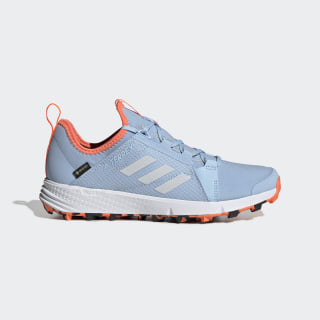 Terrex Speed GTX Shoes Glow Blue / Cloud White / Hi-Res Coral EF0218