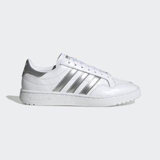 Team Court Shoes Cloud White / Silver Metallic / Cloud White EG9824