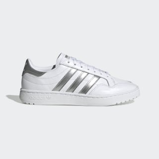 Team Court Shoes Cloud White / Silver Metallic / Cloud White EG9824