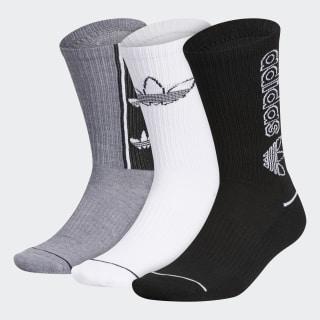 Billboard Mid-Cut Crew Socks 3 Pairs Black CM3952