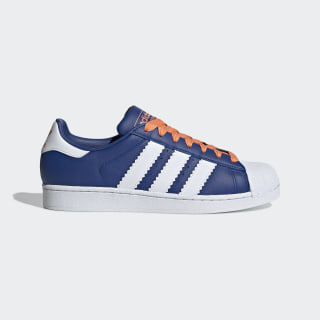 Superstar Shoes Collegiate Royal / Cloud White / Easy Orange BD7379