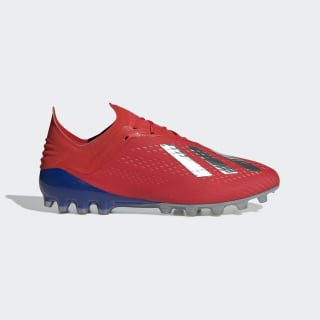 X 18.1 Artificial Grass Boots Active Red / Silver Met. / Bold Blue F36087